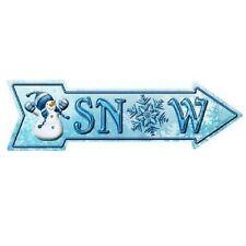 """Outdoor/Indoor Christmas """"SNOW"""" Novelty Metal Arrow Sign 5"""" x 17"""""""