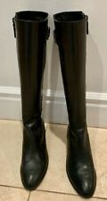 New listing Cole Haan Sz 6 High Black Leather Boots w/side zipper - Worn a few times