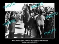 OLD LARGE HORSE RACING PHOTO OF BERNBOROUGH WINNING THE NEWMARKET HANDICAP '46 1