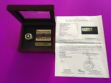 Wayne Gretzky HOF The Great One Signed Auto Plate Ring Case Display JSA