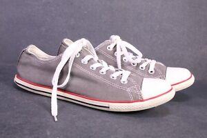 CB1294 Converse All Star Slim OX Chucks Low Sneaker Gr. 39 Canvas grau weiß