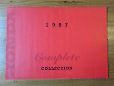 HONDA, Genuine Brochure, Motorcycle Range, 1997 Complete Collection