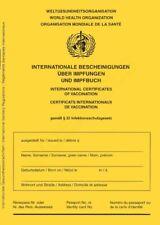 Impfausweis/Impfpass/Impfbuch,internationale Bescheinigung Impfungen,Ausgabe2021