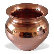 BIG Pure Copper Lota Pooja Item Hindu pooja Kalash Copper Pot Surya Namaskar