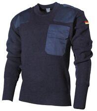 Ejército Jersey de punto suéter de trabajo bw Militar Negro Oliva Azul