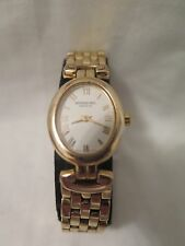 RAYMOND WEIL 18K GOLD PLATED CHORUS SAPPHIRE CRYSTAL WRIST WATCH 5889 USED