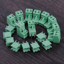 10set 5.08mm 2Pin Right Plug-in Pluggable Screw PCB Terminal Block Connector