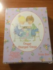 """Precious Moments """"Prayer Changes Things"""" Note Box.Brand New."""