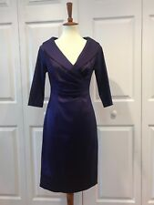 Kay Unger Purple Satin Dress Size 2, Great Condition