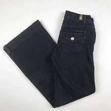 LC Lauren Conrad Women's Trouser Jeans Dark Wash CASUAL Flap Pocket Sz 2