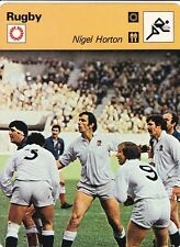 RUGBY carte joueur fiche photo  NIGEL HORTON ( ANGLETERRE )