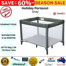 Target Holiday Portacot Baby Portable Travel Cot Playpen Crib Kids Bed Foldable