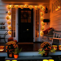 1.2M 10 LED Pumpkin String Lights Lantern Fairy Light String Halloween Home Deco