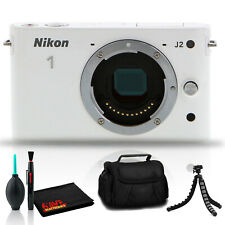 Nikon 1 J2 Camera Body (White) Includes Carry Case and 12