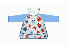Baby Bib Waterproof With Sleeves Feeding Time Painting Baby Coverall Bib Jungle