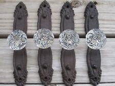 Rustic door plate with acrylic knob,coat,hat,robe hook cabinet Drawer,Door pull.
