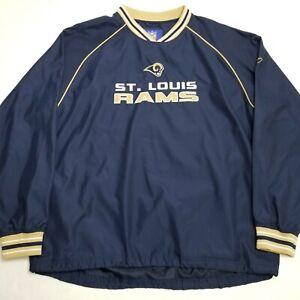 Reebok, Windbreaker Vneck Sweater, NFL LA Rams