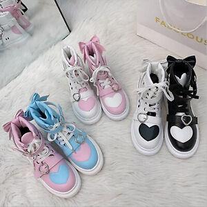 Harajuku Womens Sport Shoes Kawaii Lolita Casual Running Sneakers