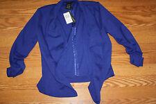 NWT Womens GRACE ELEMENTS Blue Blazer Jacket Coat Size S Small