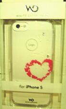 White Diamonds Made with Swarovski Cell Phone Case Apple iPhone 5/5S Heart
