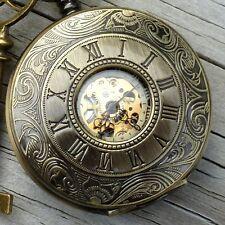 Steampunk Victorian pocket watch pirate pendant charm key Alice in Wonderland