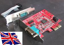 Rs232 2 PCIe Serial Pci Express Lp bajo perfil 16c950
