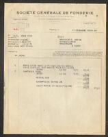 """PARIS (VIII°) MATERIEL pour QUINCAILLERIE """"SOCIETE GENERALE DE FONDERIE"""" en 1931"""