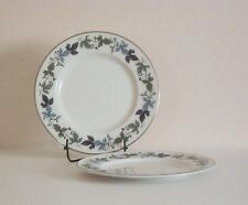 TWO Royal Doulton Burgundy pattern Salad Plates - 2
