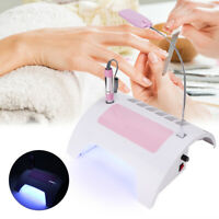 5In1 Nail Suction Dust Collector LED Nail Art Curing Lamp Light Grinding Machine