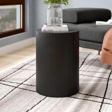 Minimalist Round Side Table Black Mid Century Modern Style