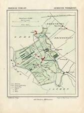Antique Map-NETHERLANDS-TOWN PLAN-WERKHOVEN-UTRECHT-Kuyper-Kuijper-1865