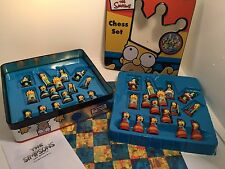 The Simpsons Chess Set Game 3-Dimensional TV Cartoon 1998