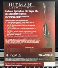 Hitman: Absolution - Agency Kazo TRG Sniper Rifle & Equipment DLC Pack [PS3] NEW