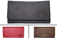 Genuine Leather Tobacco Pouch Case with Lining  Black Brown Red Tan