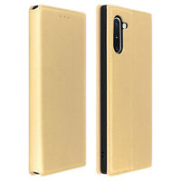 Cover Samsung Galaxy Note 10 Etui Wallet-Etui Funktion Halterung Gold