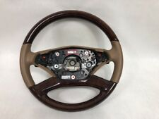 OEM 10-13 Mercedes W221 S550 S600 Wood Leather Steering Wheel W/ Paddle Shifters