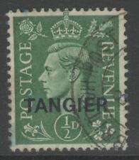 Agencias de Marruecos SG251 1944 1/2 D color verde pálido Fine Used