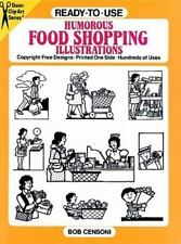Ready-to-Use Humorous Food Shopping Illustrations Dover Clip Art S