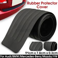 Universal Car Rear Bumper Protector Plate Rubber Cover Guard Trim Pad Black W