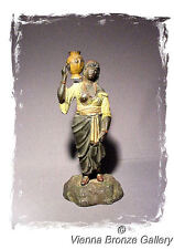 1800's: An early Austrian Statue of a Moorish Arab Woman carrying a Water Vessel