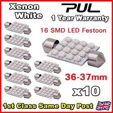 10x 36mm 37mm LED 239 272 C5W CANBUS NO ERROR WHITE INTERIOR LIGHT FESTOON BULB