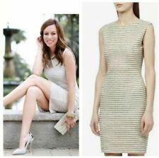 Reiss 'Kinette' stripe panelled dress size 12 (cream with gold flecks) RRP £120