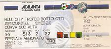 More details for ticket - atalanta v hull city 2009/10 (12 nov) friendly