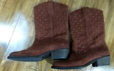 f336d2439a6b LUCKY BRAND Womens MADONNA Bourbon Leather Western Boots US Size 9M