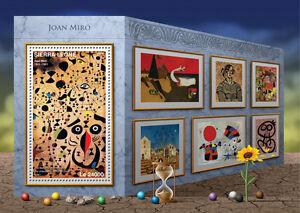 Sierra Leone 2016 MNH Joan Miro 1v S/S Beautiful Bird Pair of Lovers Art Stamps