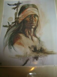 Proud American   Lithograph by Popo and Ruby Lee   1974  Ira Roberts Publishing