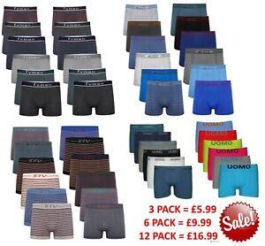 6 12 Pack Mens Regular Boxer Shorts Underwear Pants Briefs Boxers S M L XL 2XL