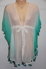 NWT Raviya Swimsuit Bikini Cover Up Tunic Size L Mint/White