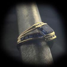 Blue Sapphire Lab-Created/Cultured Fine Jewellery