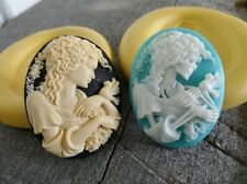 Gothic ALIVE/DEAD MOLD Set Cameo Silicone  mold polymer clay resin  sugar craft
